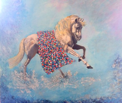 Helbig Dagmar  Cinderellas Horse - 2017 - Oil On Canvas
